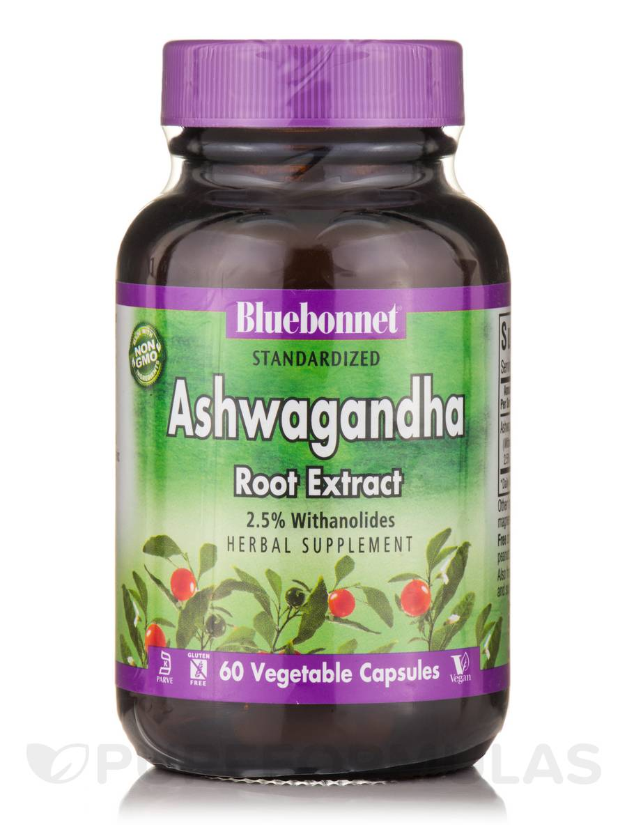 Ashwagandha Root Extract - 60 Vegetable Capsules