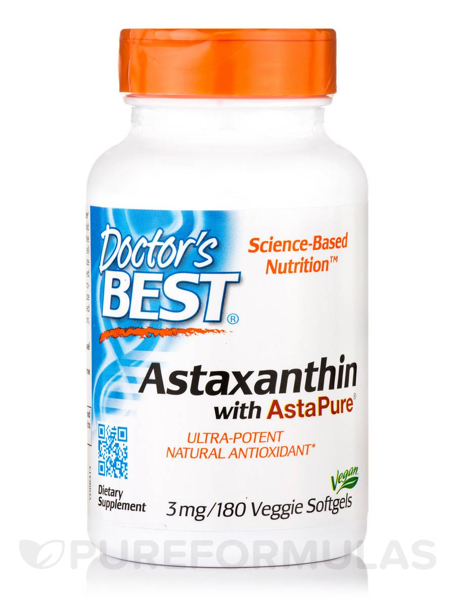 Astaxanthin with AstaPure® 3 mg - 180 Veggie Softgels