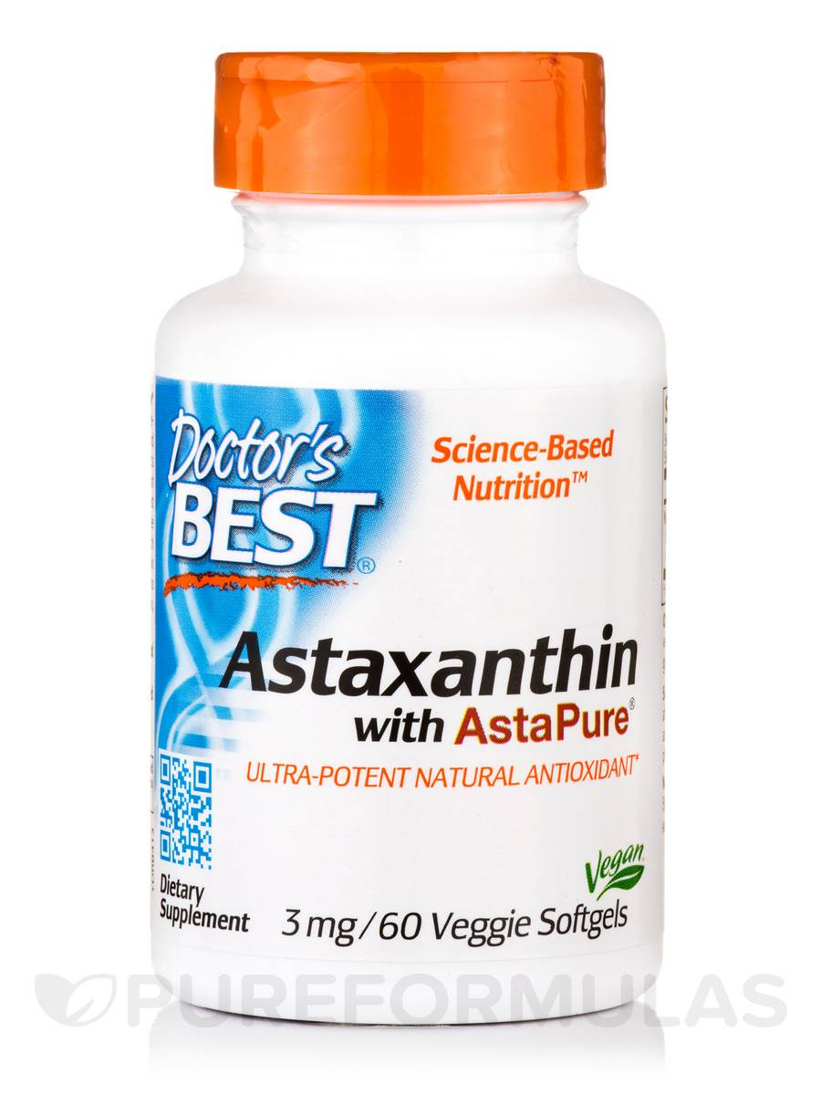 Astaxanthin with AstaPure® 3 mg - 60 Veggie Softgels