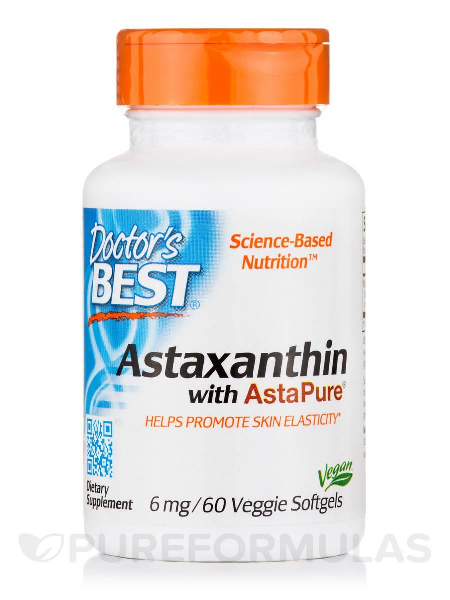 Astaxanthin with AstaPure® 6 mg - 60 Veggie Softgels
