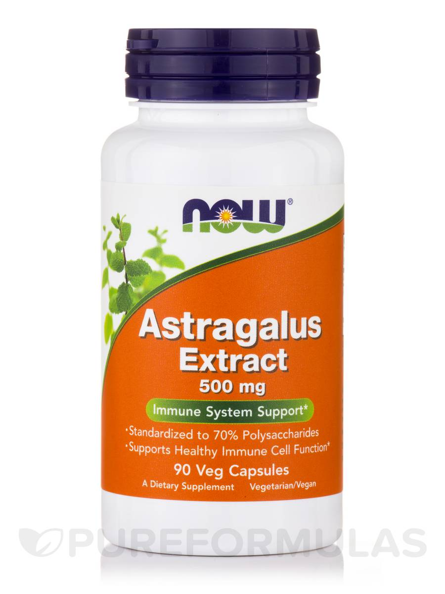 Astragalus Extract 500 mg - 90 Vegetarian Capsules