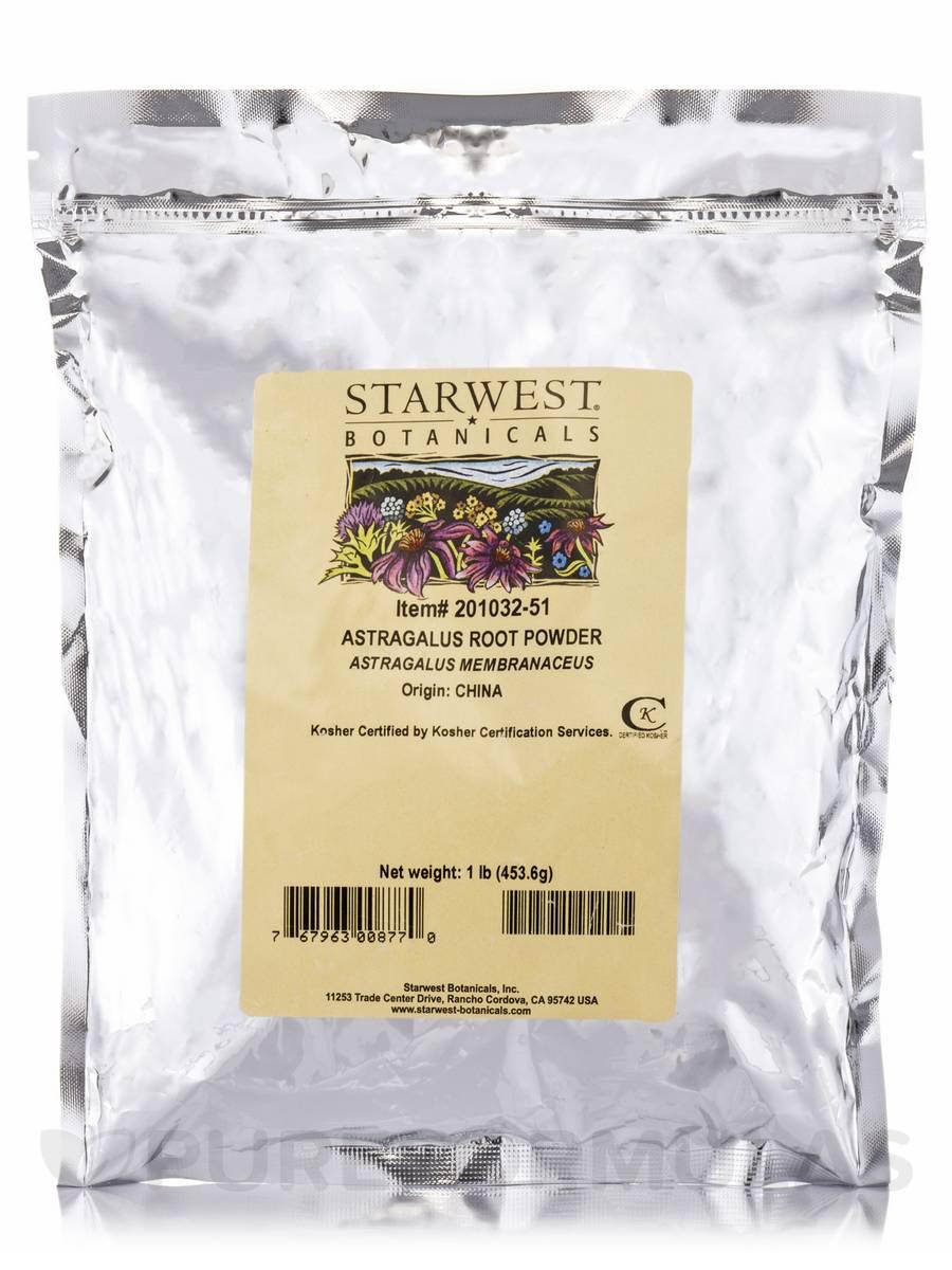 Astragalus Root Powder - 1 lb (453.6 Grams)