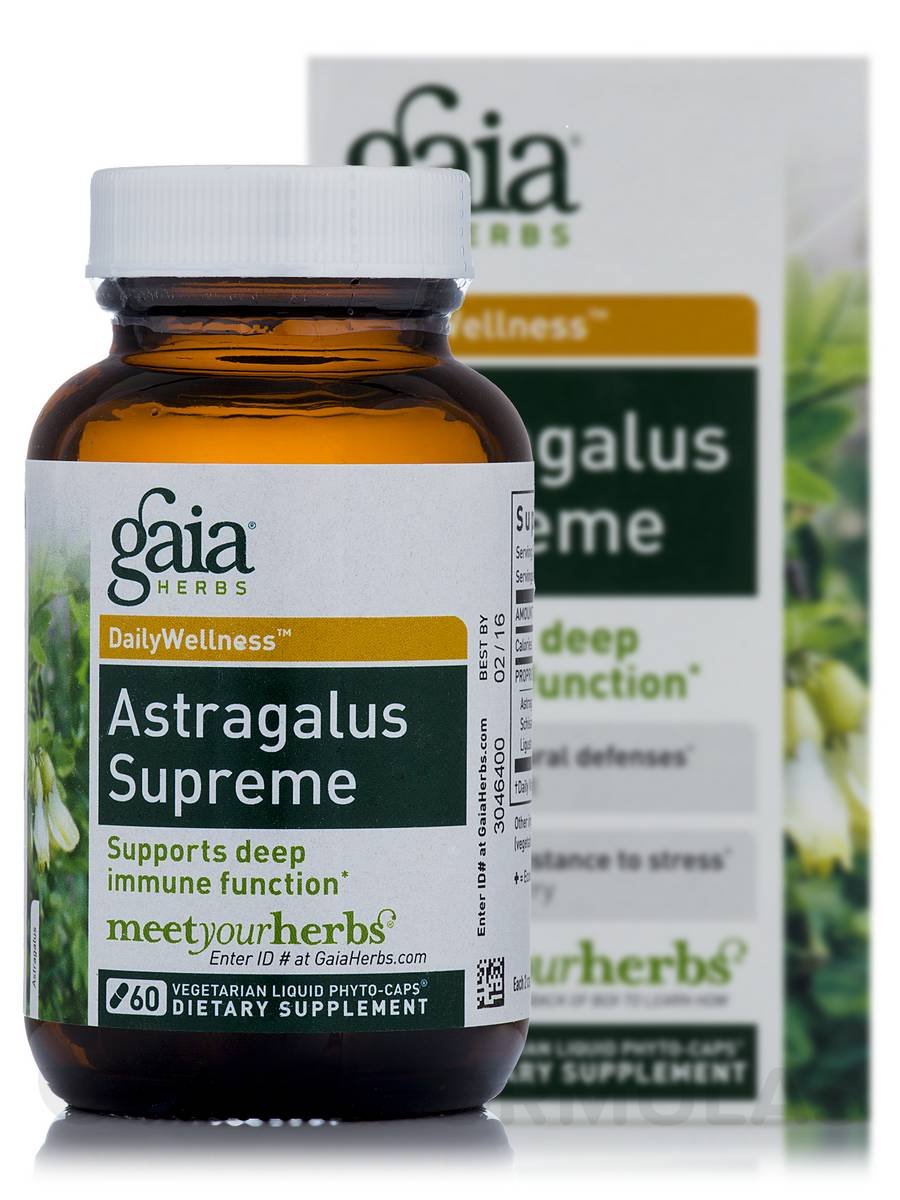 Astragalus Supreme - 60 Vegetarian Liquid Phyto-Caps