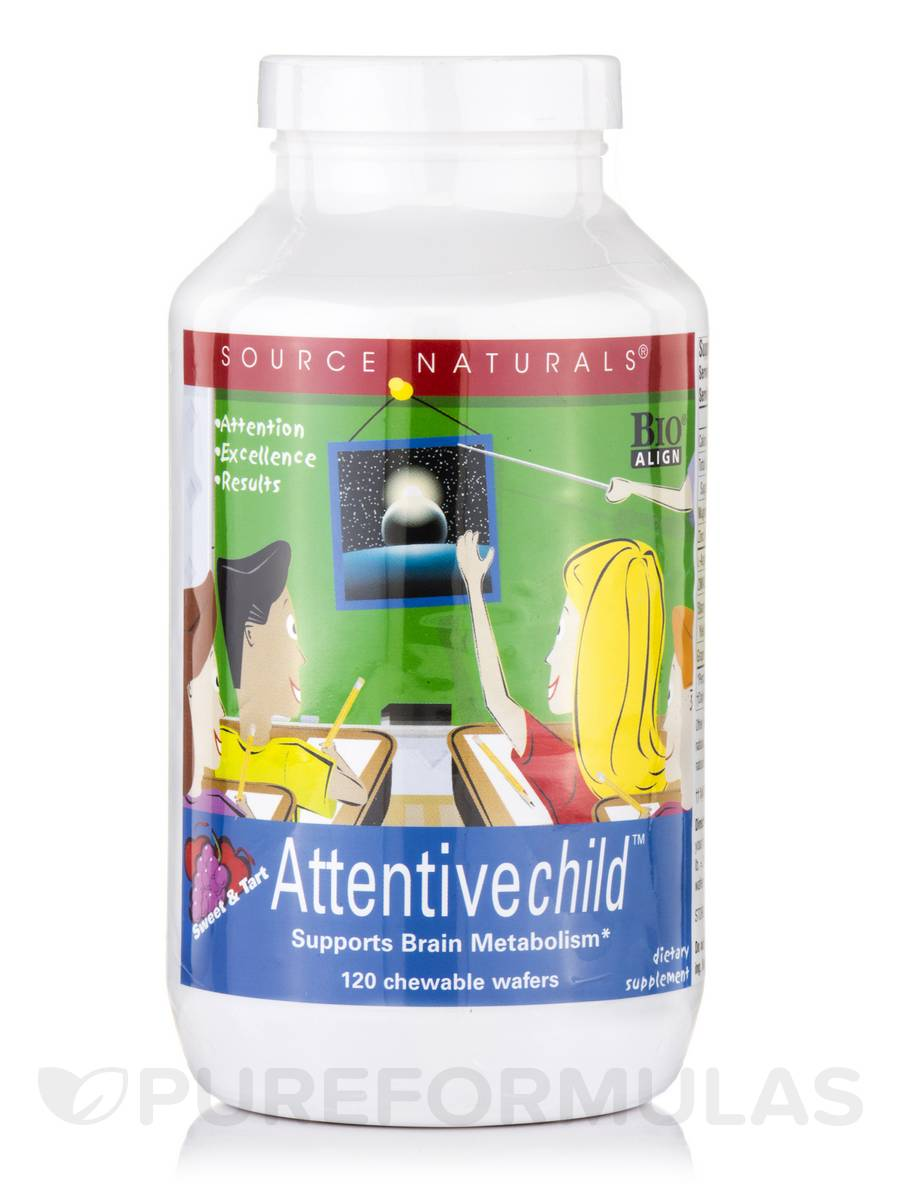 Attentive Child™, Sweet & Tart Flavor - 120 Chewable Wafers