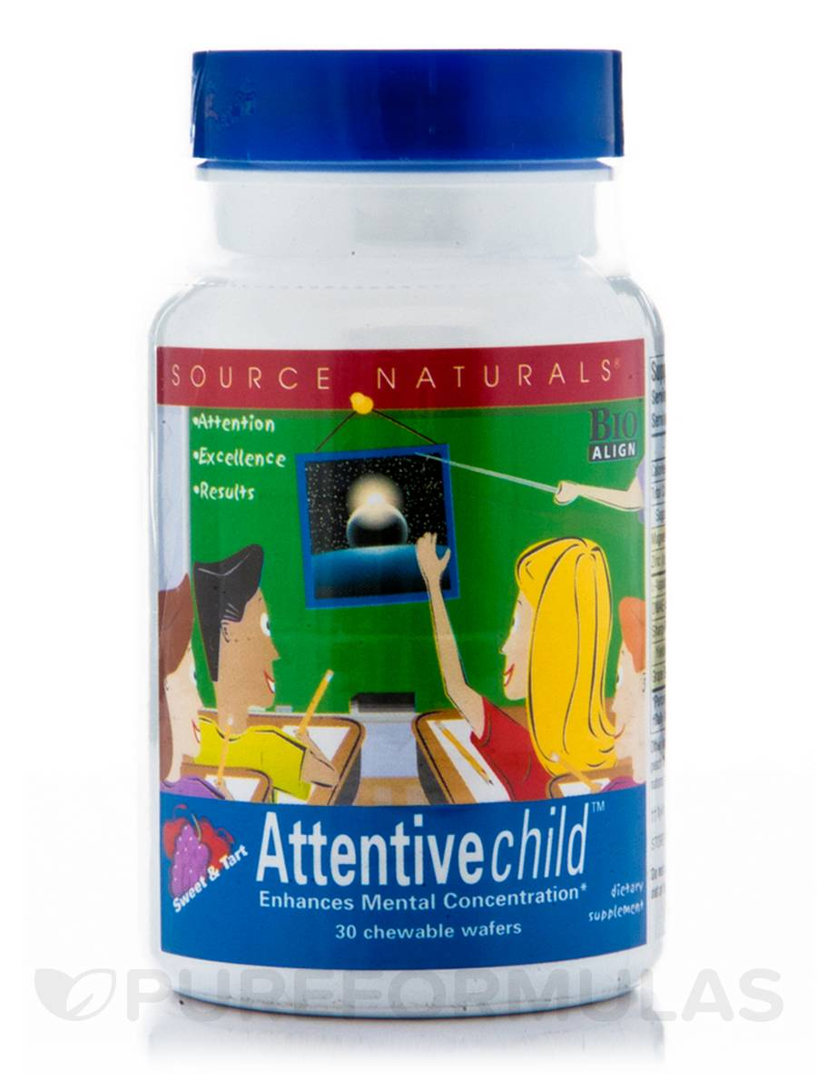 Attentive Child Chewable - 30 Wafers