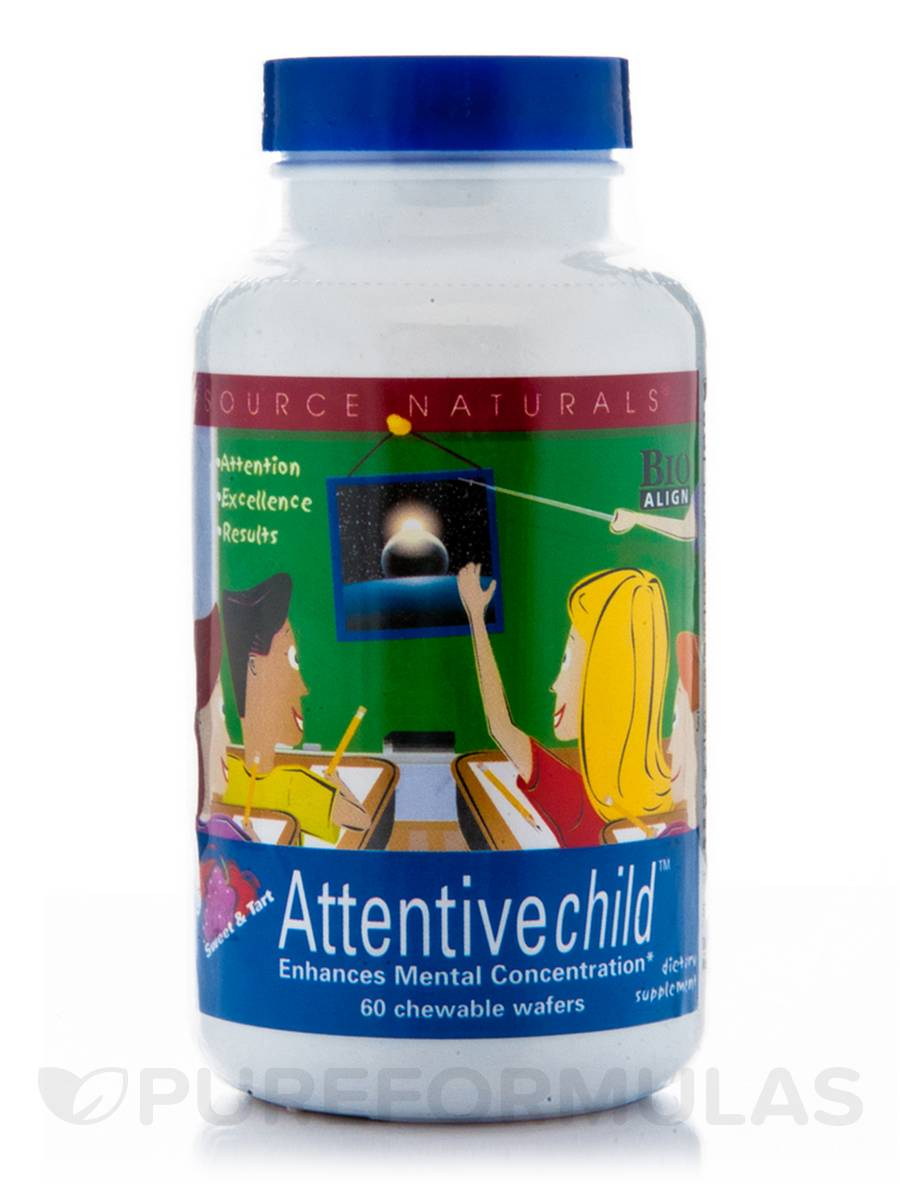 Attentive Child Chewable - 60 Wafers