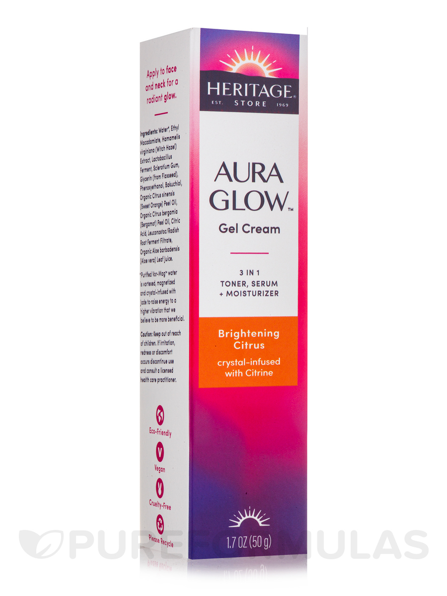 Aura Glow Gel Cream - Brightening Citrus - 1.7 fl. oz (50 Grams)