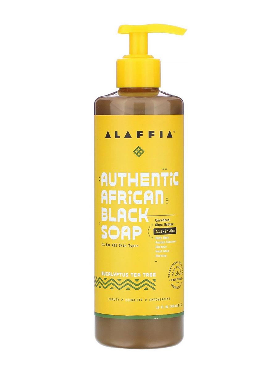 Authentic African Black Soap All-in-One, Eucalyptus Tea Tree - 16 fl. oz (476 ml)