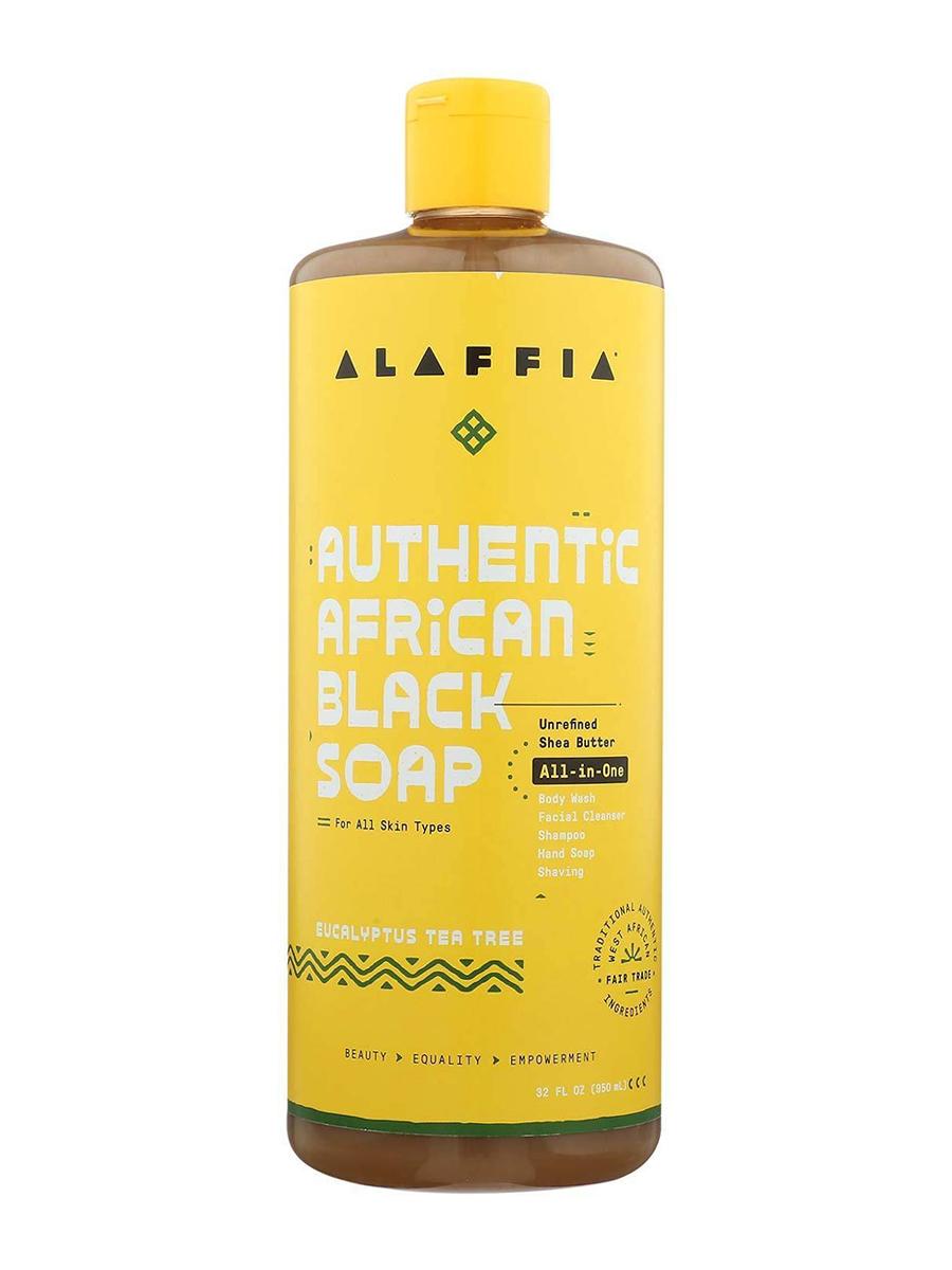 Authentic African Black Soap All-in-One, Eucalyptus Tea Tree - 32 fl. oz (950 ml)