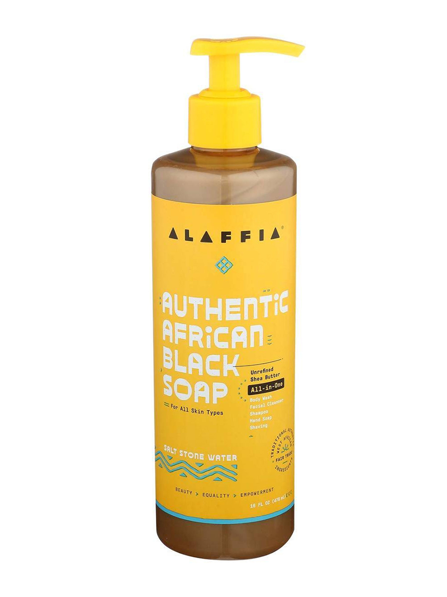 Authentic African Black Soap All-in-One, Salt Stone Water - 16 fl. oz (476 ml)