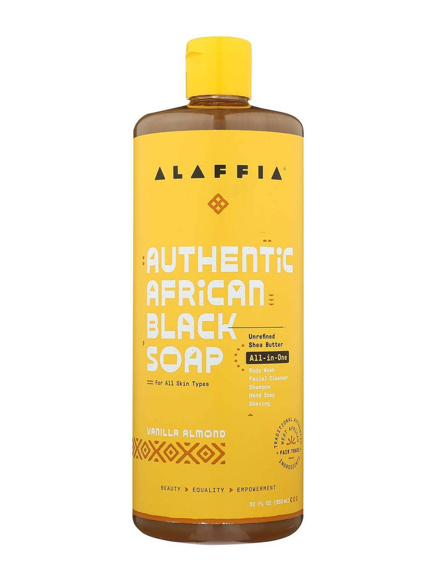 Authentic African Black Soap All-in-One, Vanilla Almond - 32 fl. oz (950 ml)