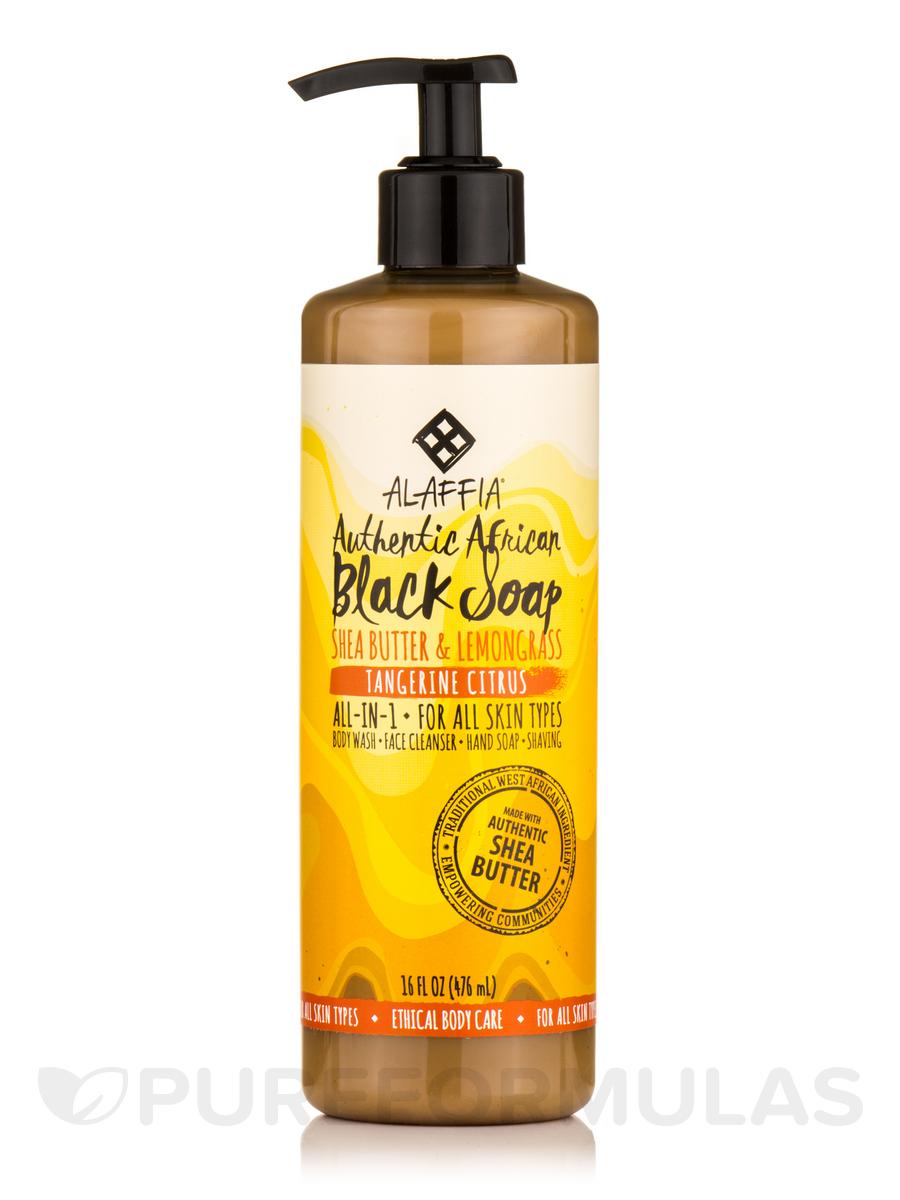 Authentic African Black Soap, Tangerine Citrus - 16 fl. oz (476 ml)