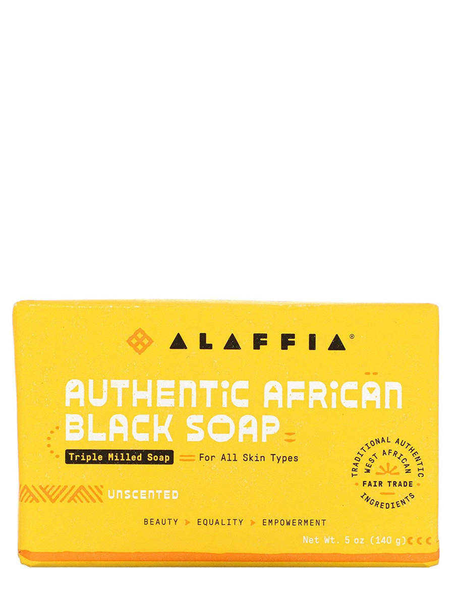 Authentic African Black Soap Triple Milled, Unscented - 5 oz (140 Grams)