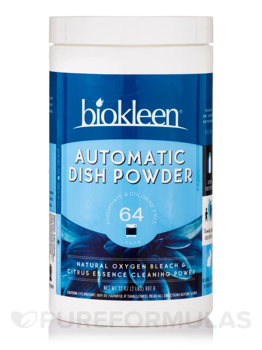 Automatic Dish Powder, Natural Oxygen Bleach & Citrus Essence - 32 oz (907 Grams)