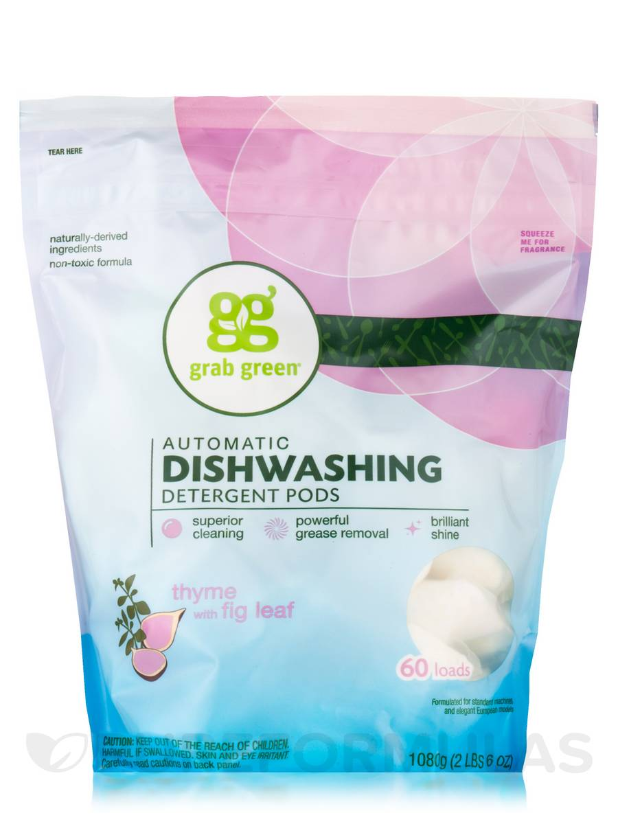 Automatic Dishwashing Detergent Pods, Thyme with Fig Leaf - 60 Loads (2 lbs 6 oz / 1080 Grams)