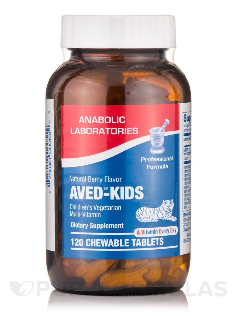 AVED-Kids™, Natural Berry Flavor - 120 Chewable Tablets