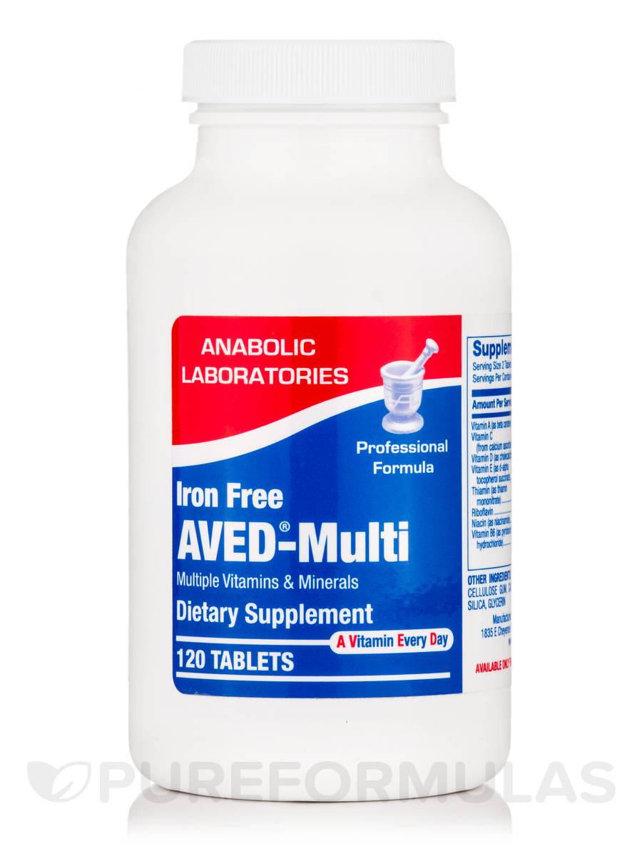 Aved®-Multi Iron Free - 120 Tablets
