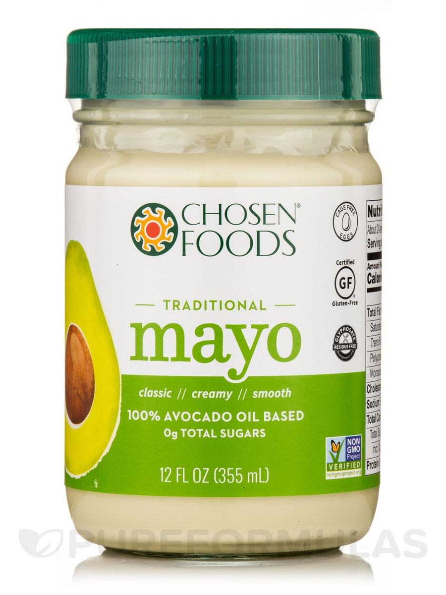 Avocado Oil Mayo - Traditional - 12 fl. oz (355 ml)