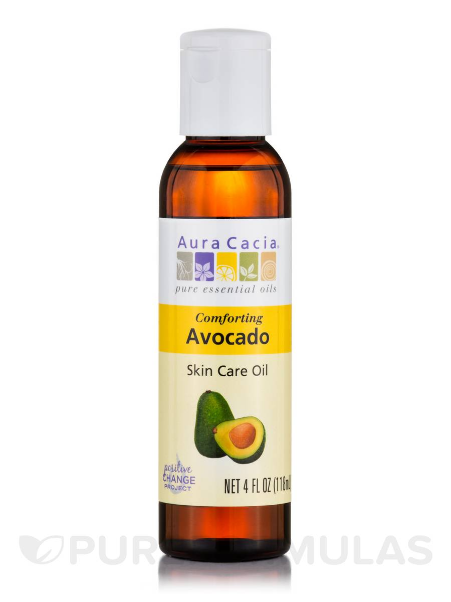 Comforting Avocado Natural Skin Care Oil with Vitamin E - 4 fl. oz (118 ml)