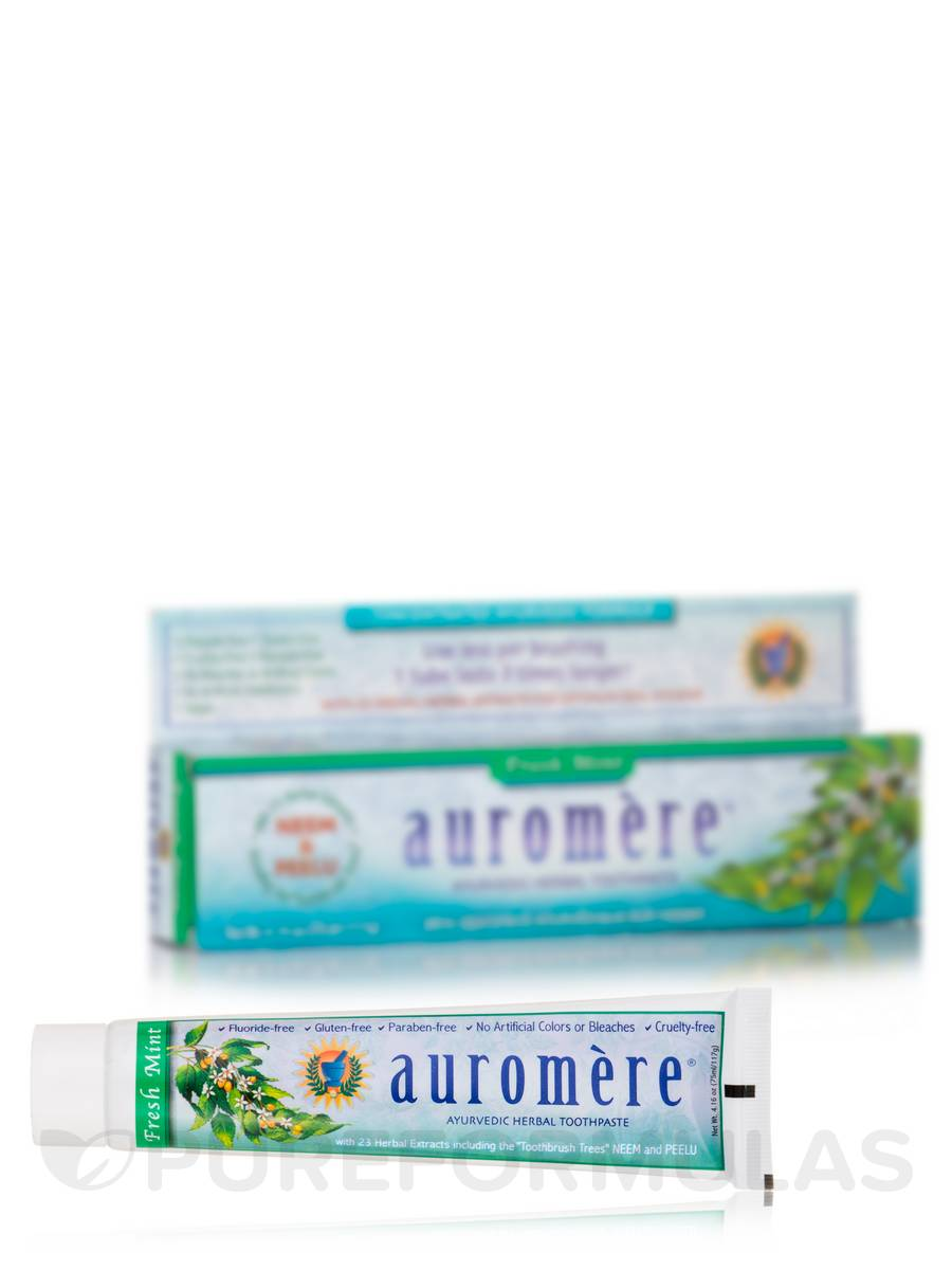 Ayurvedic Herbal Toothpaste - Fresh Mint Flavor - 4.16 oz (75 ml / 117 Grams)
