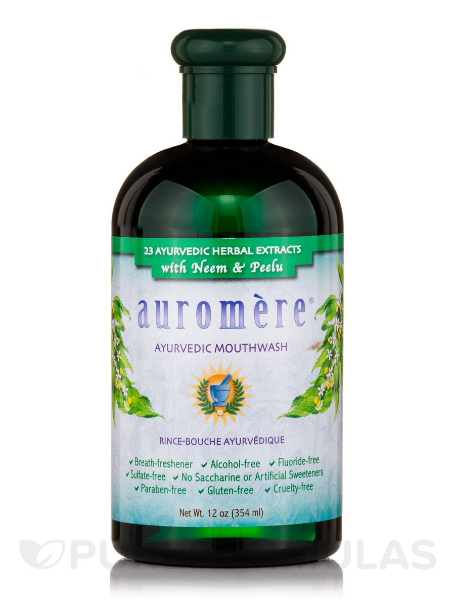 Ayurvedic Mouthwash with 23 Herbal Extracts - 12 oz (354 ml)