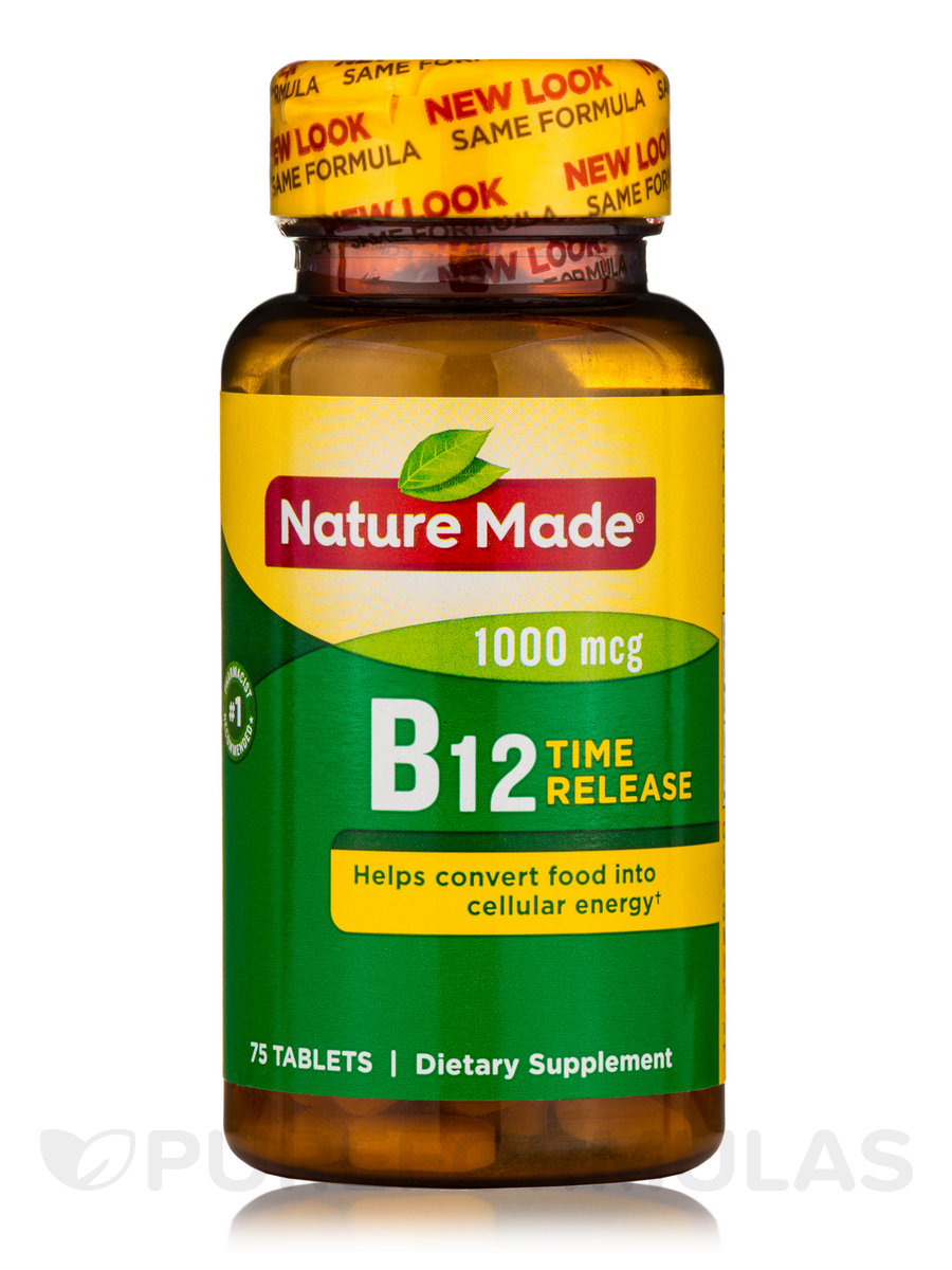 B-12 1000 mcg Timed Release - 75 Tablets