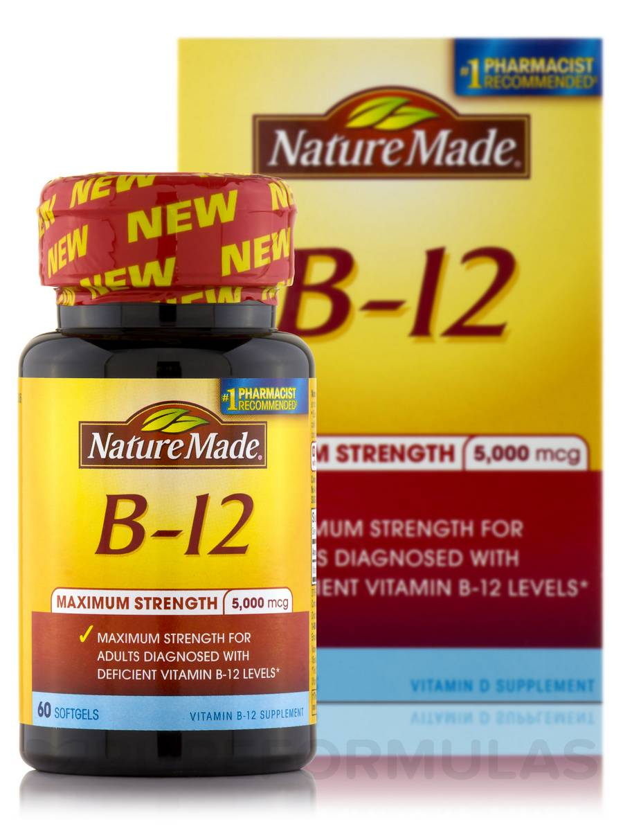B-12 5000 (Maximum Strength) - 60 Softgels