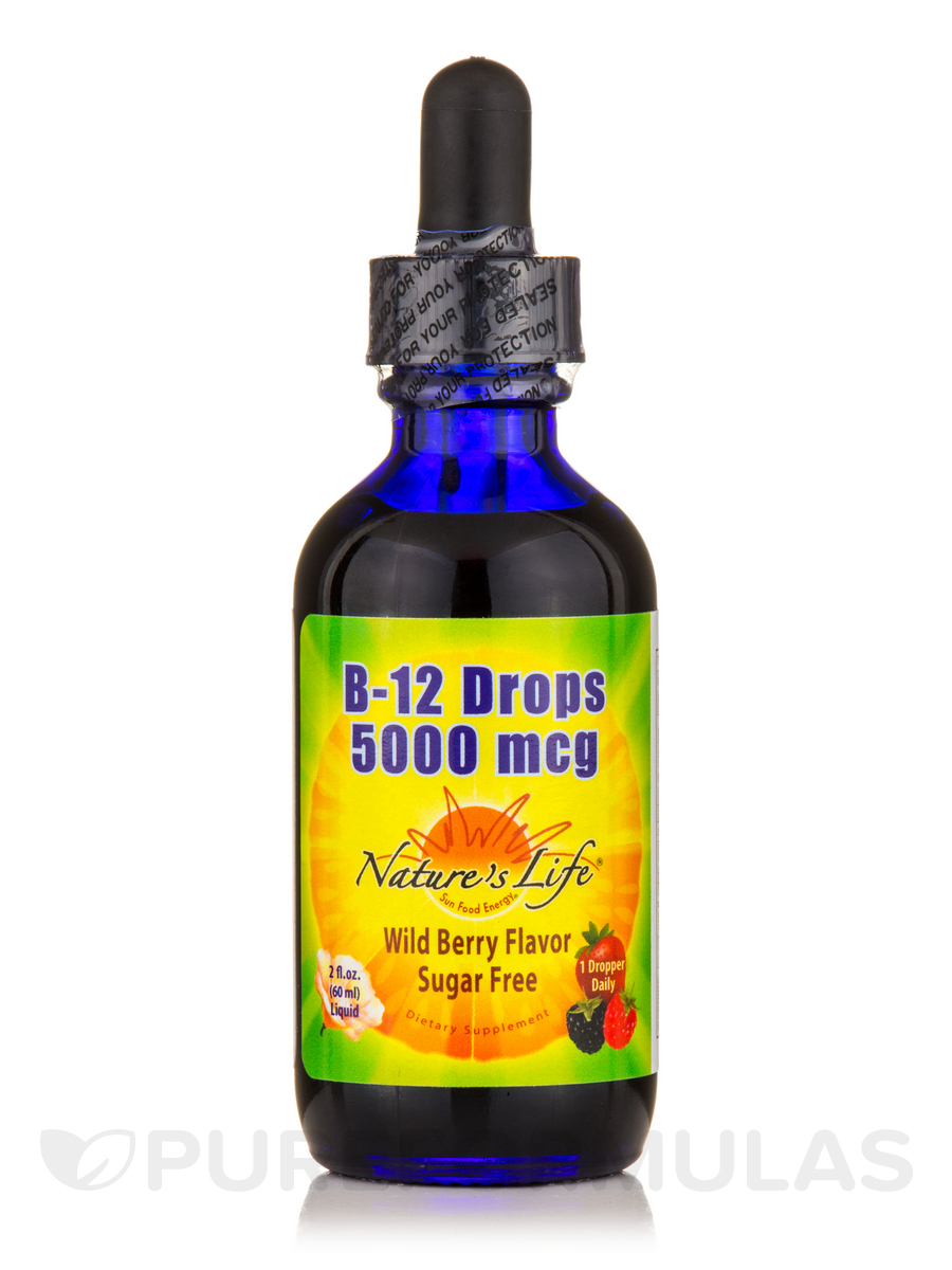 B-12 Drops 5000 mcg, Wild Berry Flavor - 2 fl. oz (60 ml)