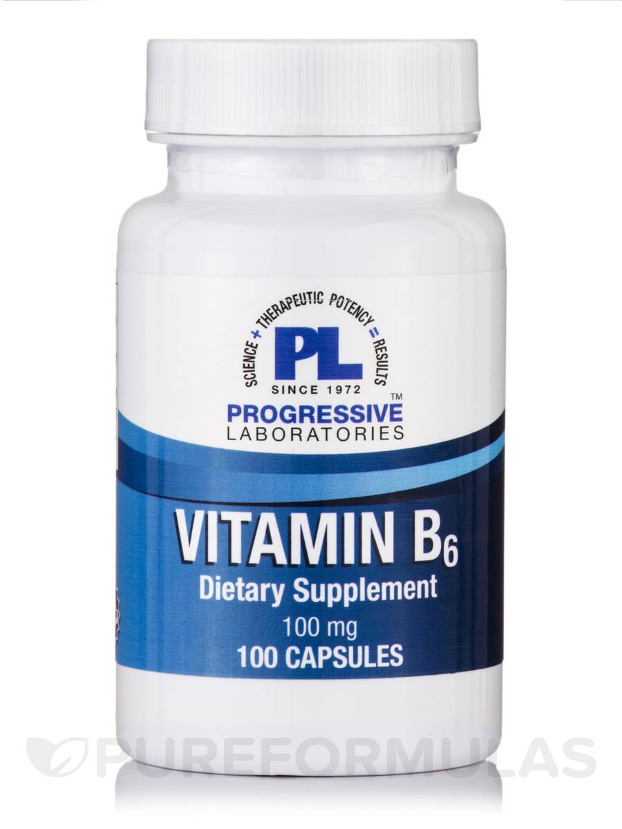 Vitamin B-6 100 mg - 100 Capsules