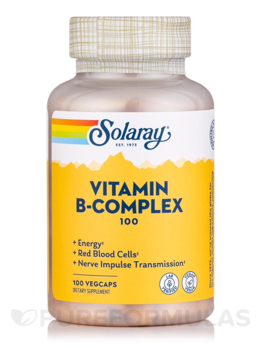 B-Complex 100 mg - 100 Vegetarian Capsules