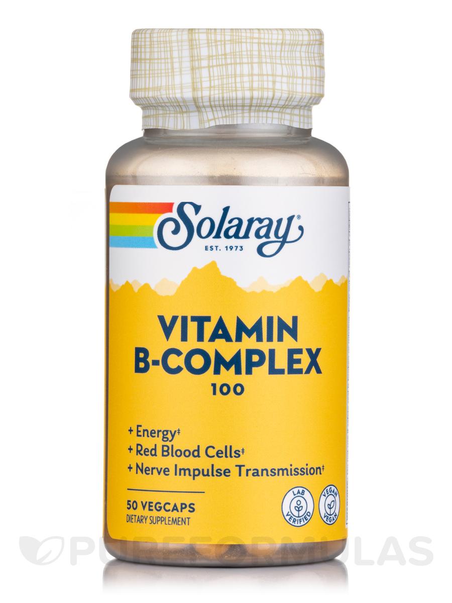 B-Complex 100 mg - 50 Vegetarian Capsules