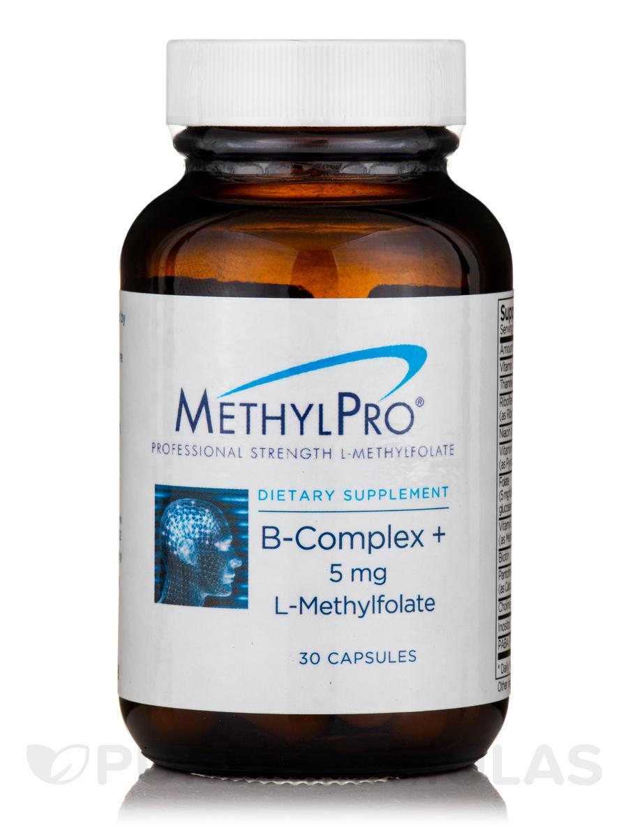 B-Complex + 5 mg L-Methylfolate - 30 Capsules