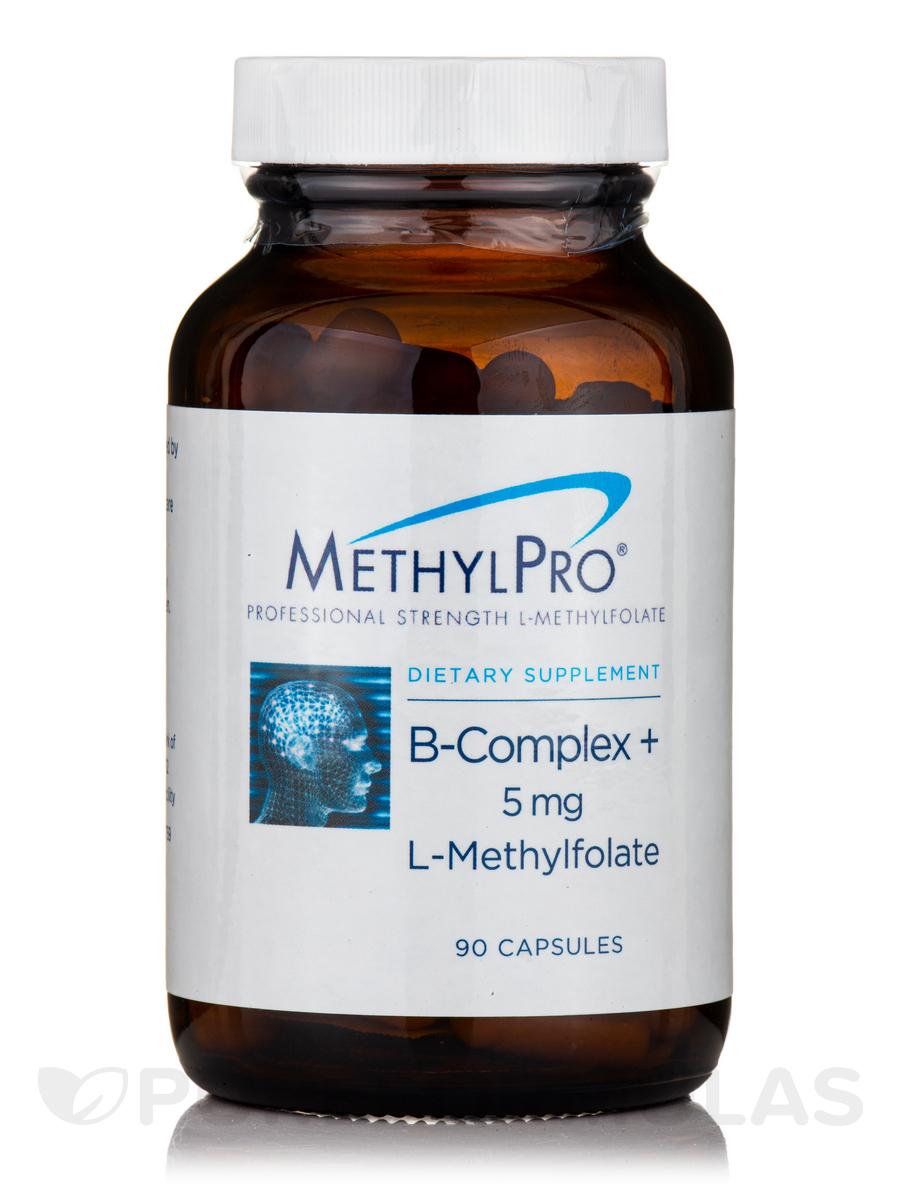 B-Complex + 5 mg L-Methylfolate - 90 Capsules