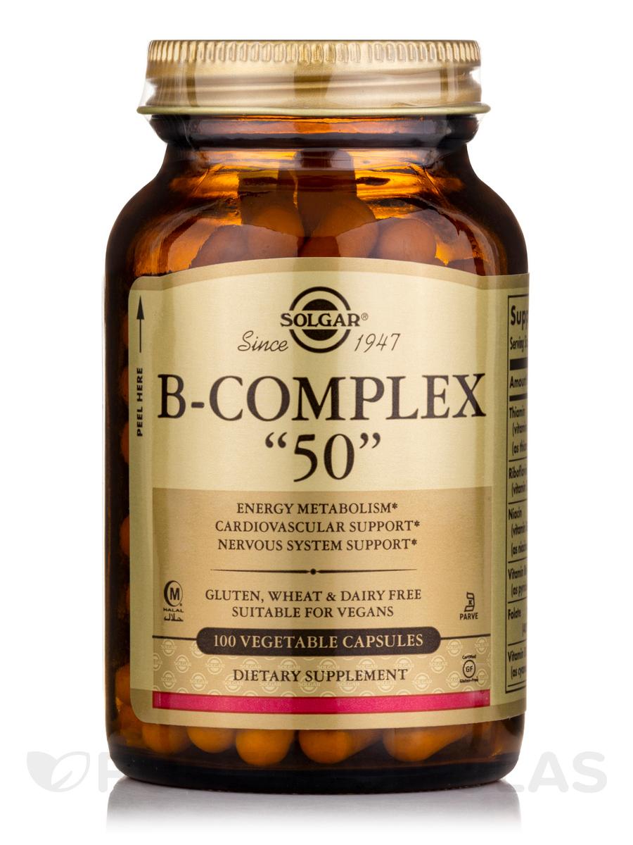 B-Complex 50 - 100 Vegetable Capsules