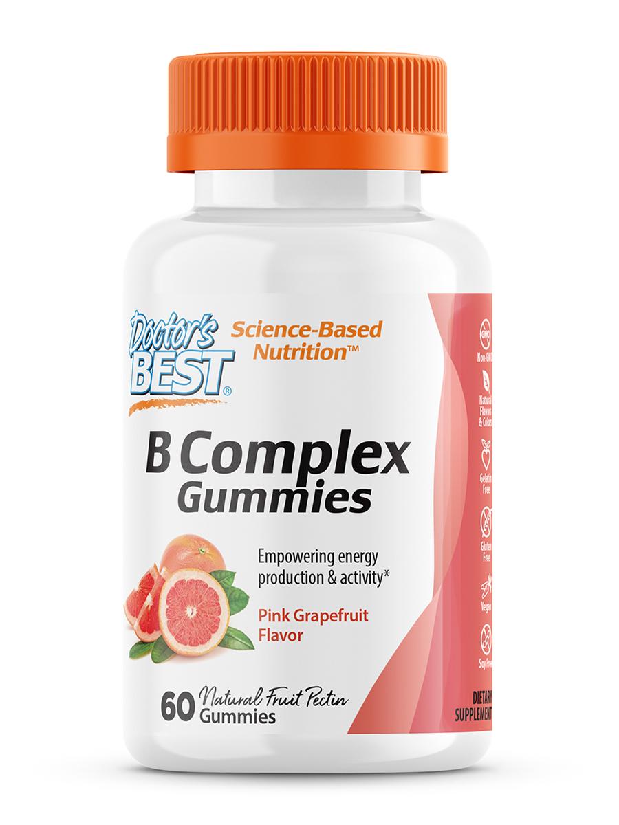 B Complex Gummies, Pink Grapefruit Flavor - 60 Gummies