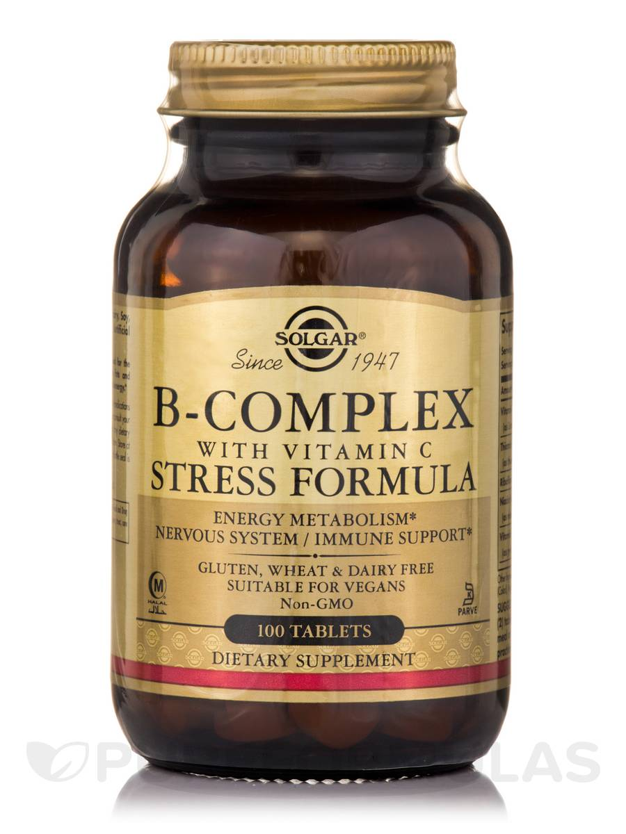 B-Complex with Vitamin C Stress Formula - 100 Tablets