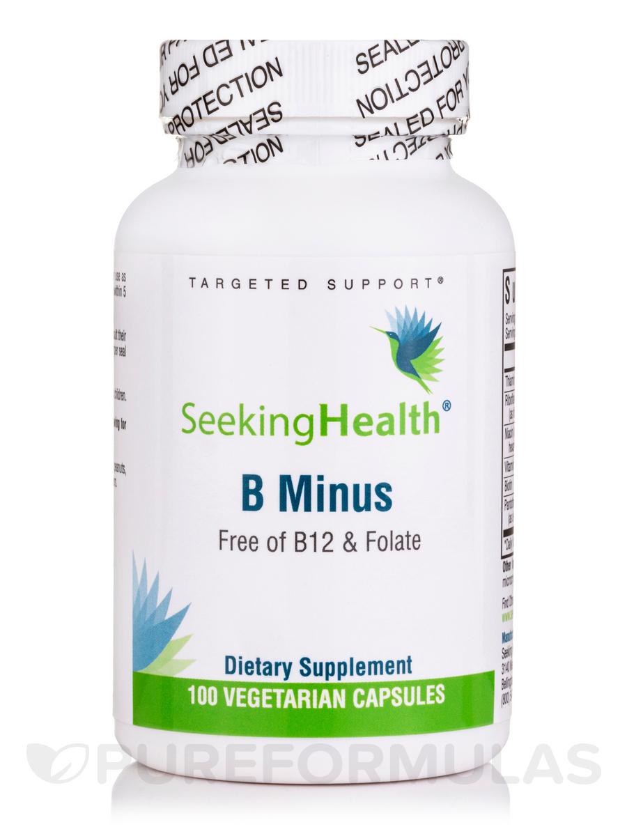 B-Minus (B12 & Folate Free) - 100 Vegetarian Capsules