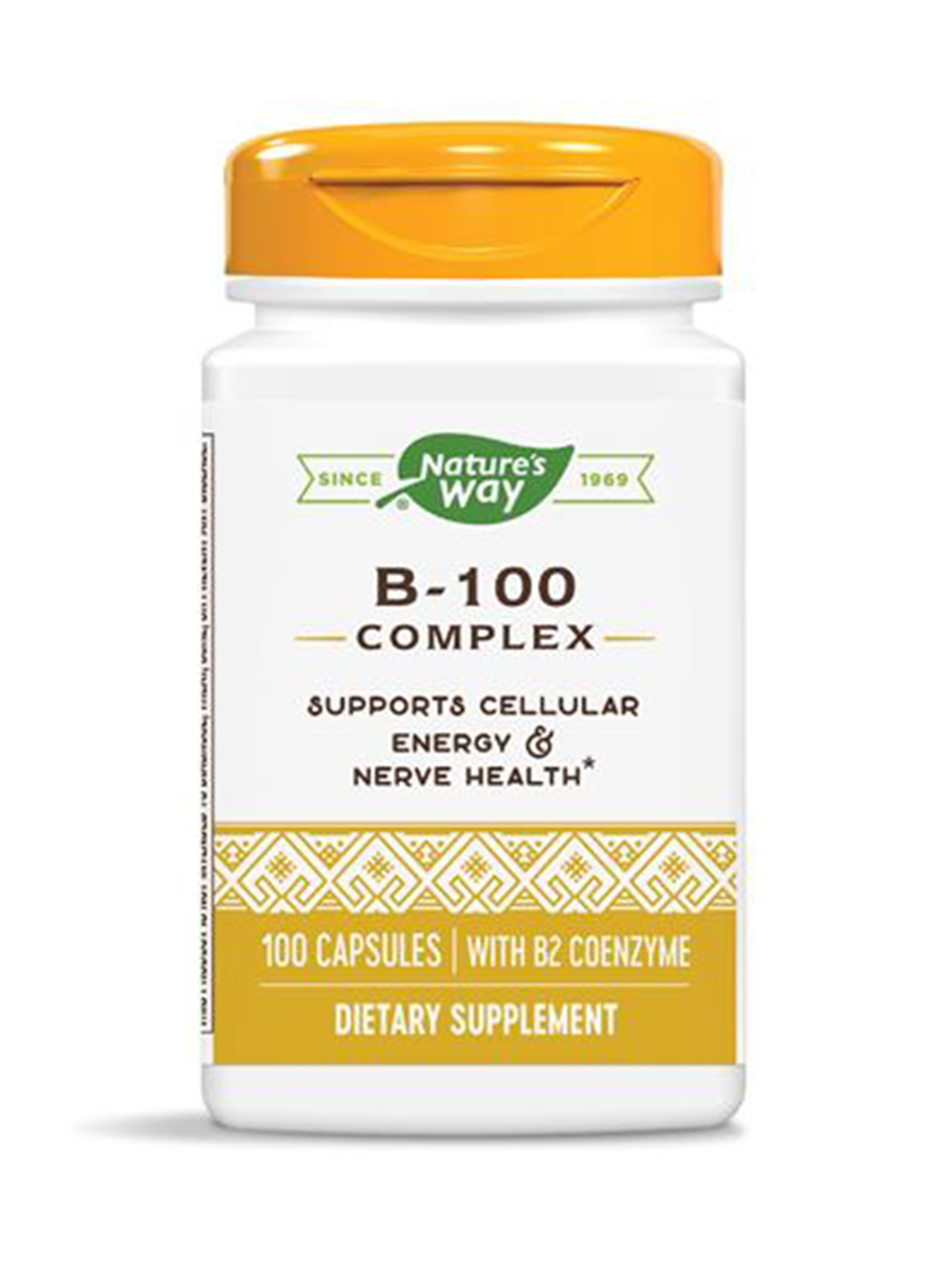 B-100 Complex (with B2 Coenzyme) - 100 Capsules