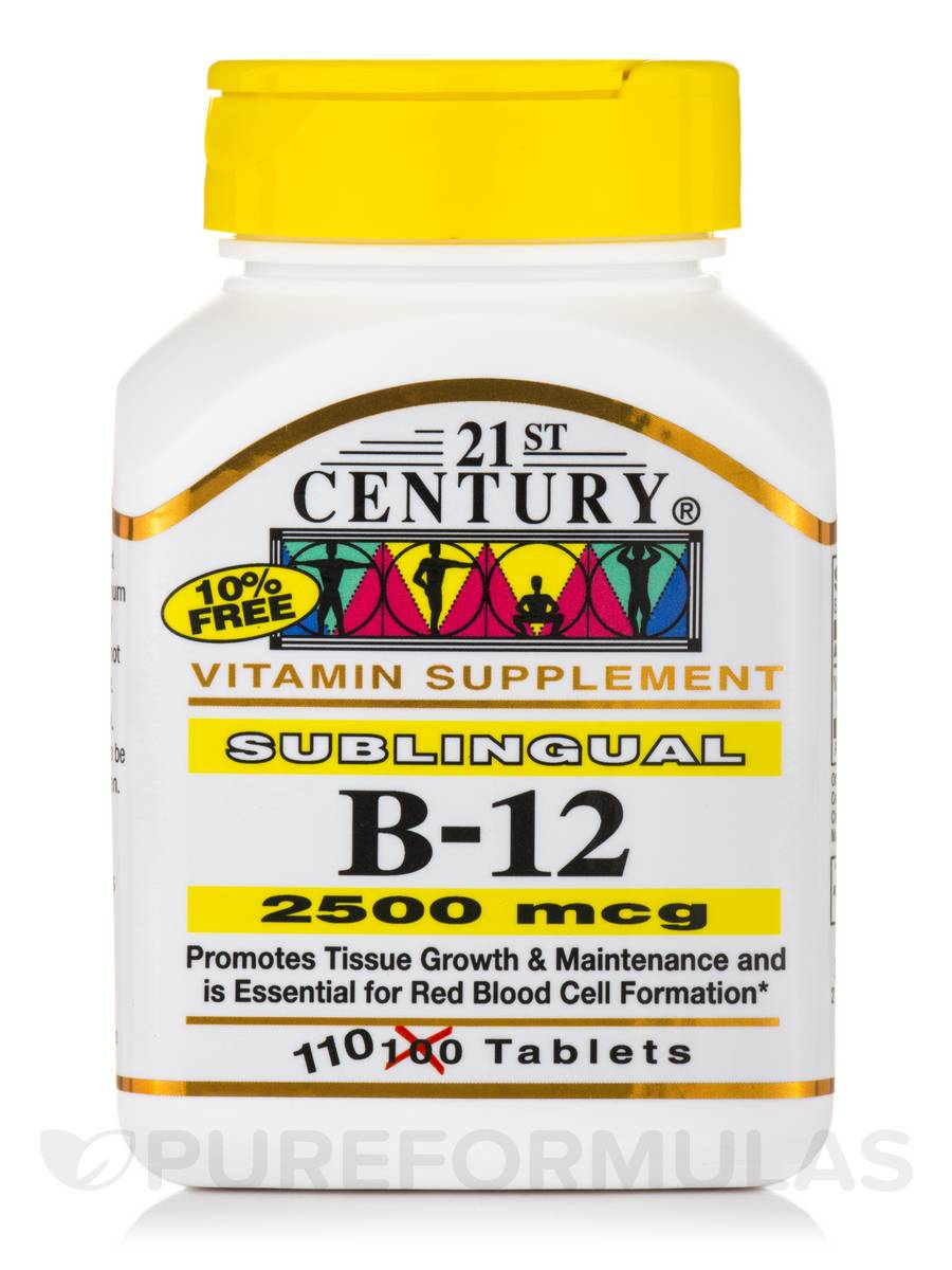 B-12 2500 mcg - 110 Sublingual Tablets
