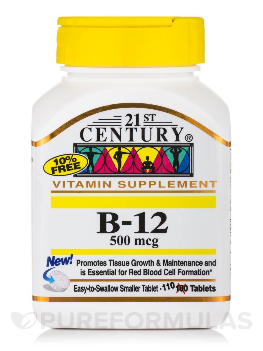 B-12 500 mcg - 110 Tablets