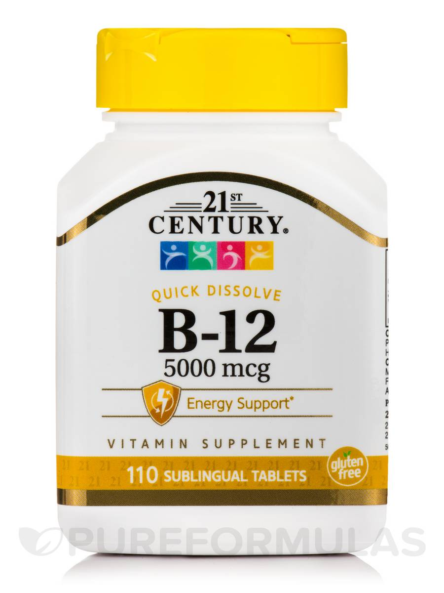 B-12 5000 mcg - 110 Sublingual Tablets