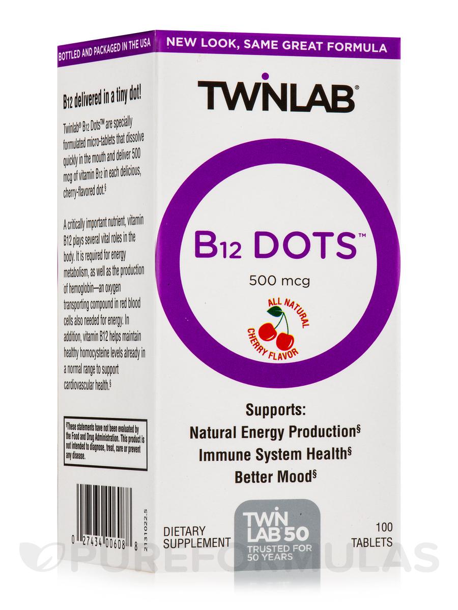 B-12 Dots 500 mcg - 100 Tablets
