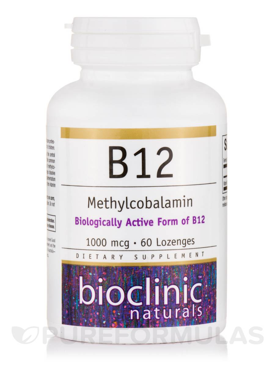 B12 Methylcobalamin 1000 mcg - 60 Lozenges