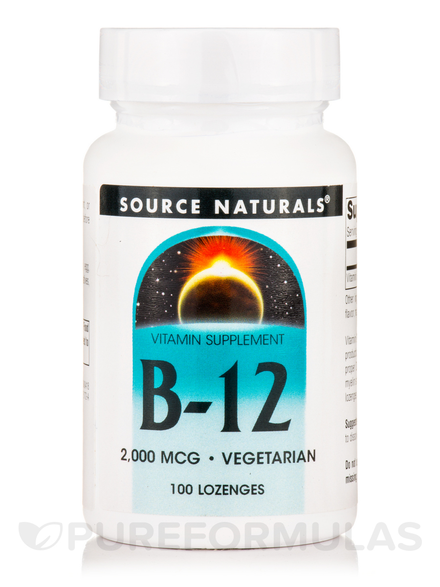B-12 Sublingual 2000 mcg - 100 Tablets