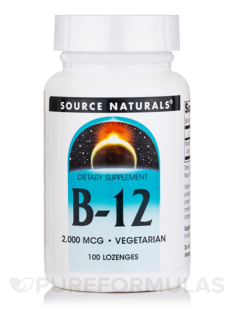 B-12 2,000 mcg - 100 Lozenges