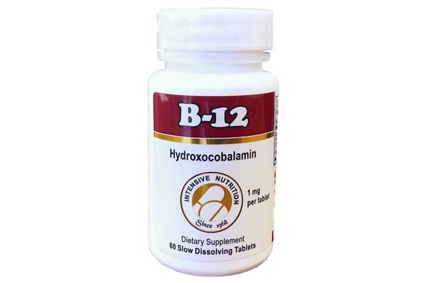 B-12 Hydroxycobalamin 1000 mcg - 60 Lonzenges