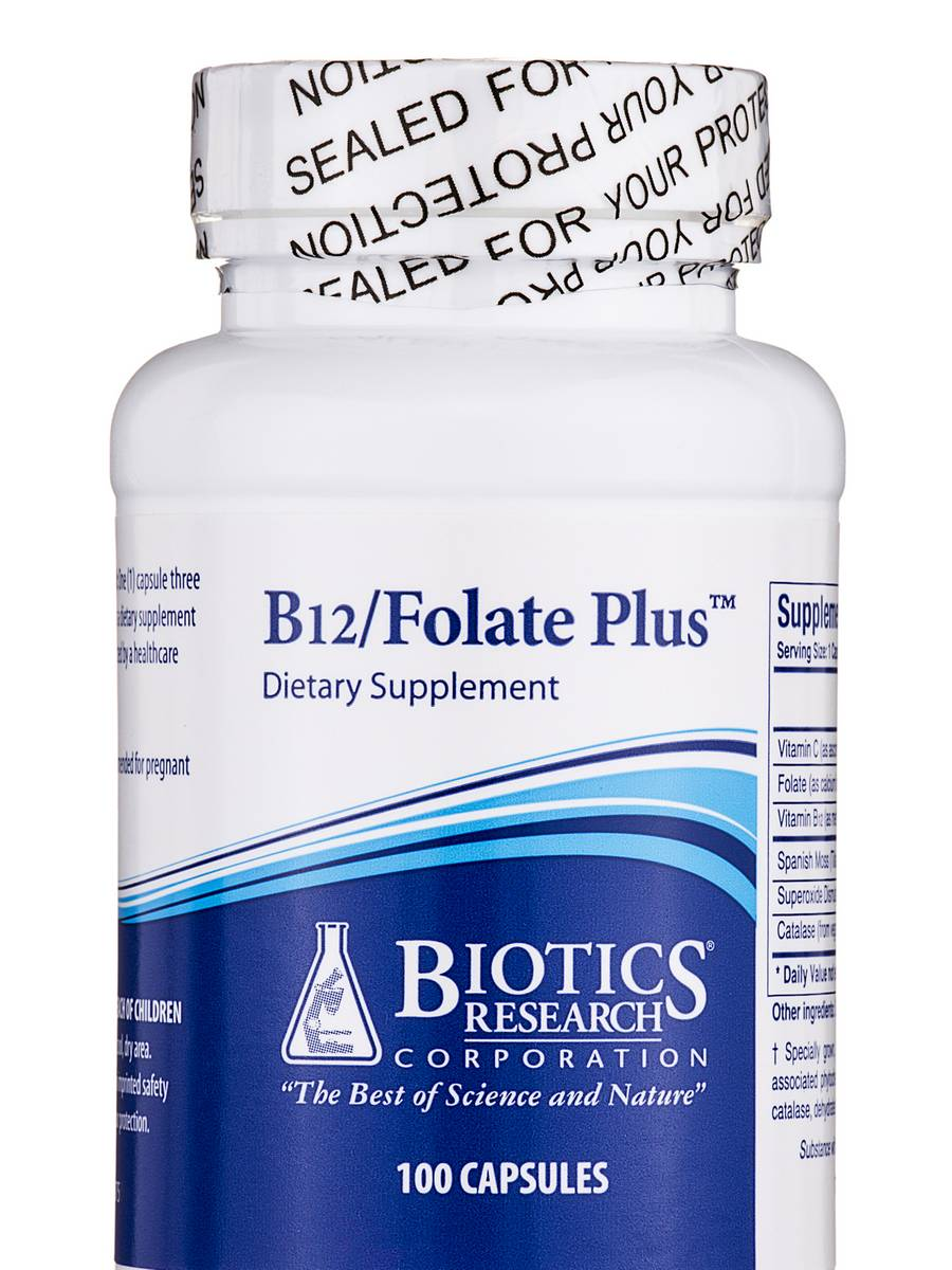 B12/Folate Plus - 100 Capsules