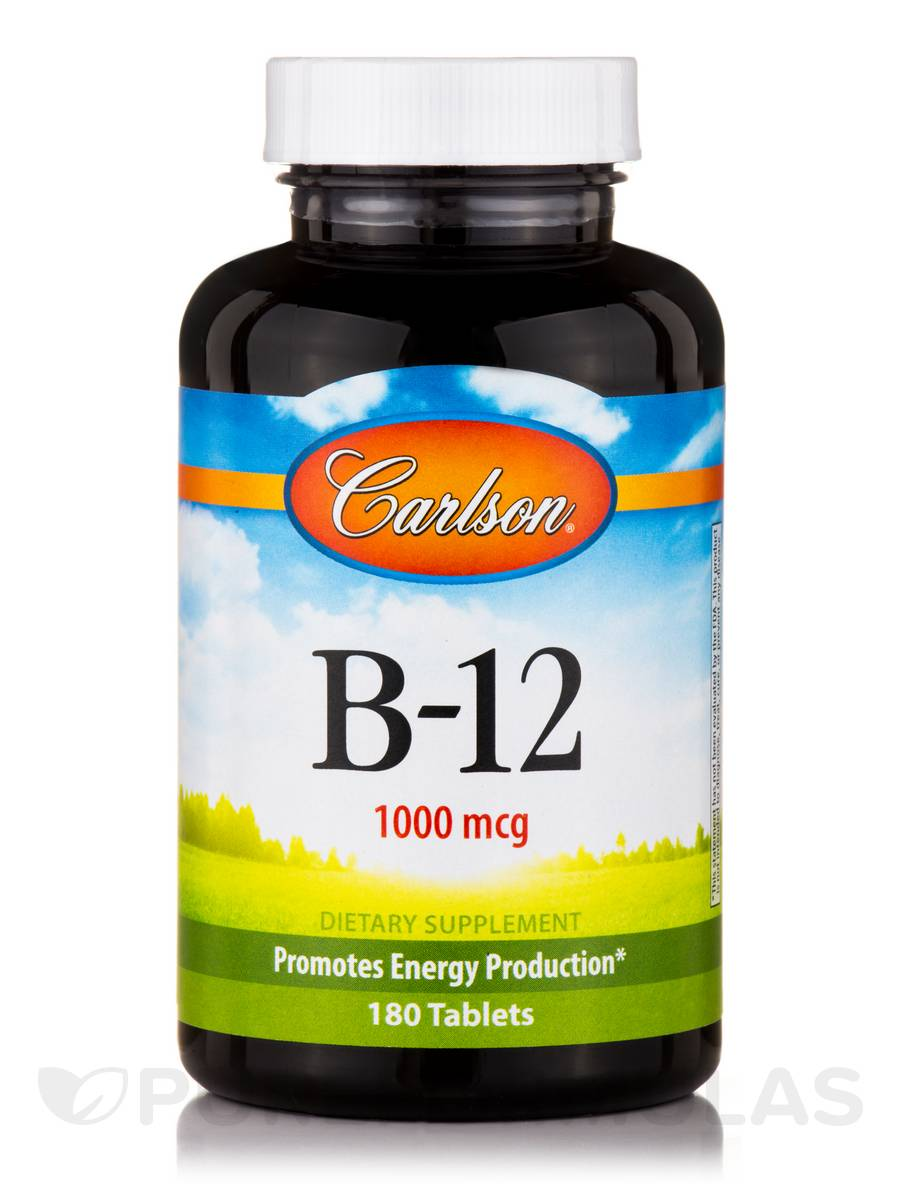 B-12 1000 mcg (Lemon Flavor) - 180 Tablets
