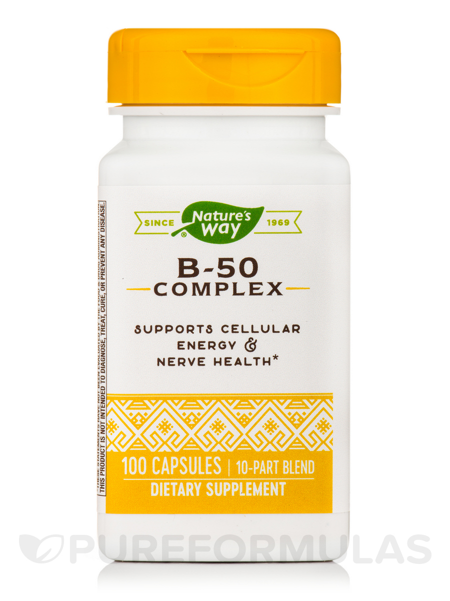 B-50 Complex with B2 Coenzyme - 100 Capsules