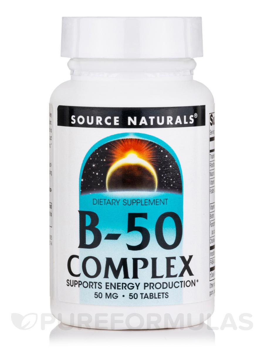 B-50 Complex 50 mg - 50 Tablets